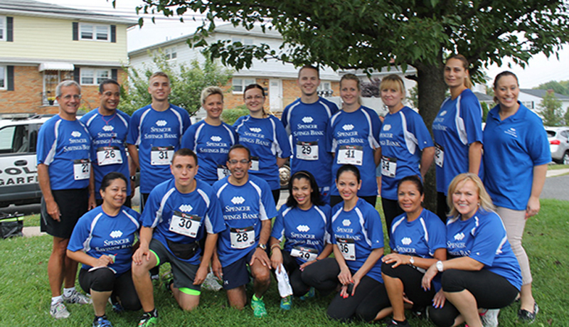 Spencer Savings Bank sponsors participates in the Garfield Boilermaker 5k race
