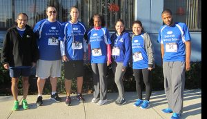 Spencer Savings Bank sponsors participates in the Lyndhurst police emergency squads 5k run walk