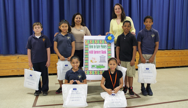 Spencer Savings Bank Brings Savings To Garfield's Roosevelt School #7 for Teach Children To Save Day