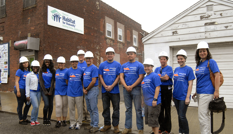 Spencer Savings Bank Contributes Funds and Labor during Paterson Habitat for Humanity Corporate Challenge