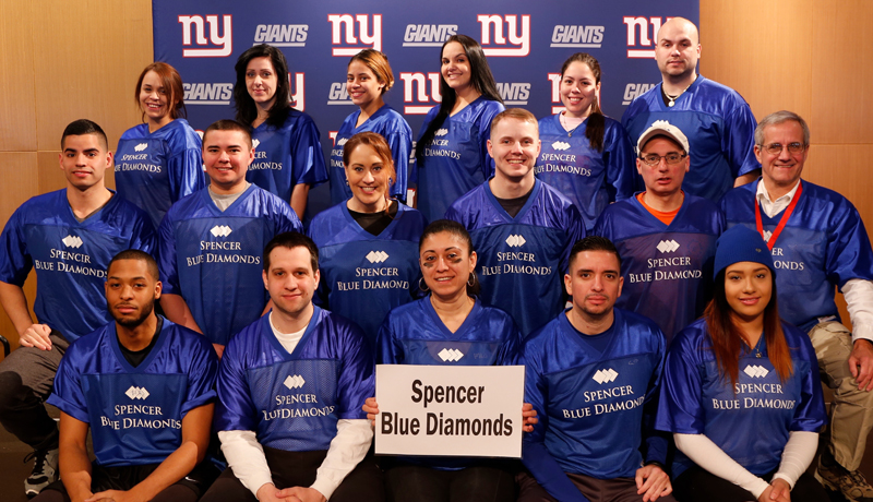 "Spencer ""Blue Diamonds"" Make Another Great Showing at 2016 New York Giants Snow Bowl Fundraiser"