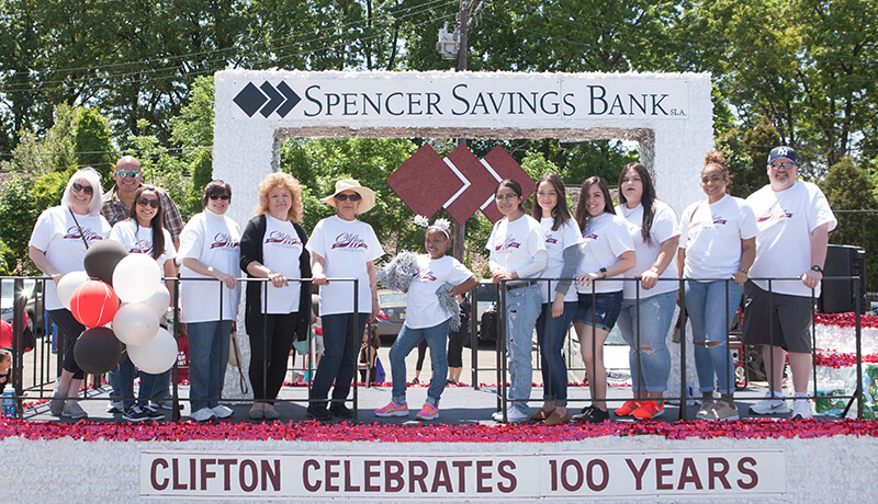 Spencer Savings Bank Celebrates 100 Years of Clifton at Centennial Parade