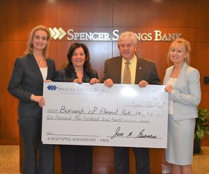 EP Recreation Department Donation Check