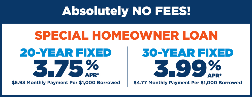 Special Homeowner Rates 2019