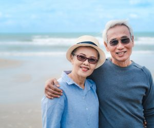 Elderly Couple at beach