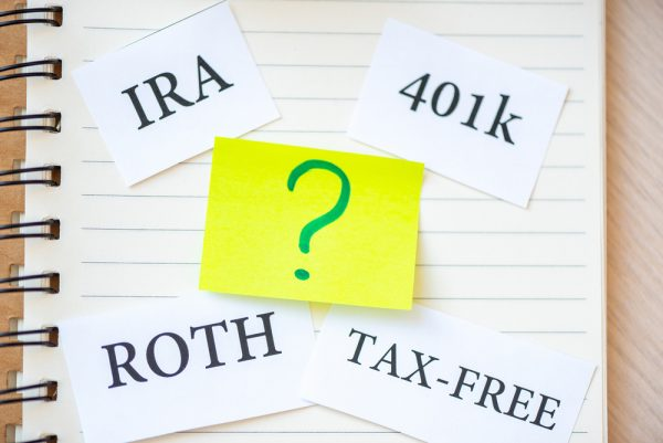 IRA 401K Roth and Tax-free