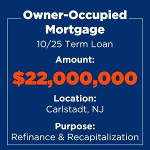 Recent Financings Owner-Occupied Mortgage