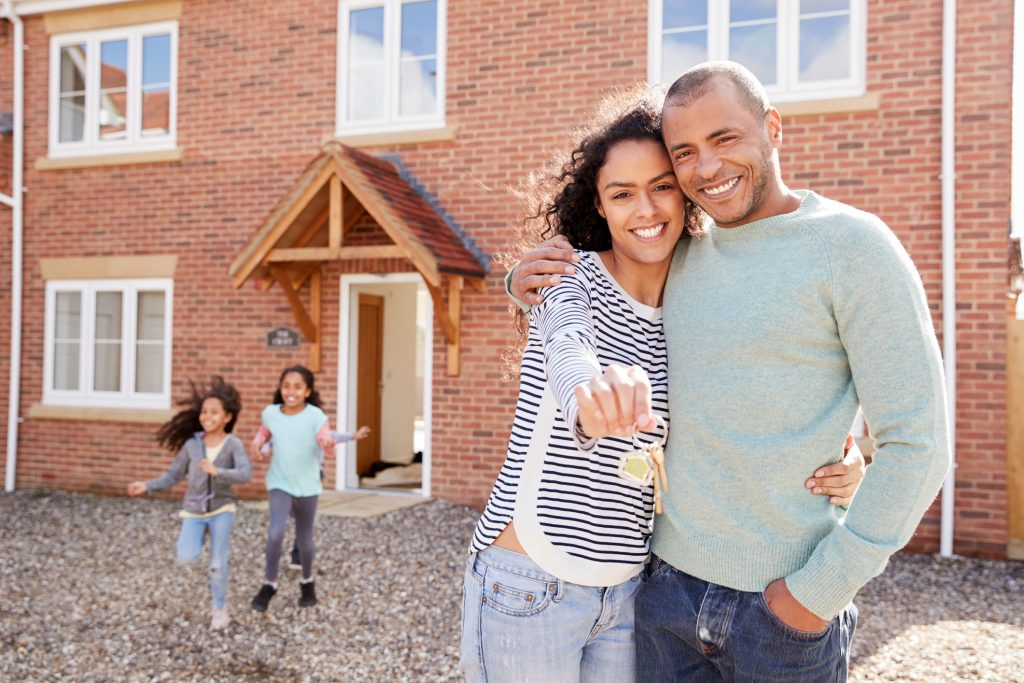 Performing Property inspections man and women kids